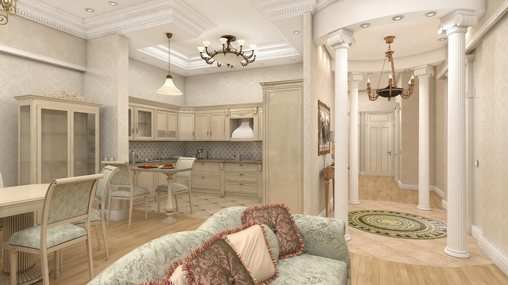 greek style furniture. walls and furniture in the greek style