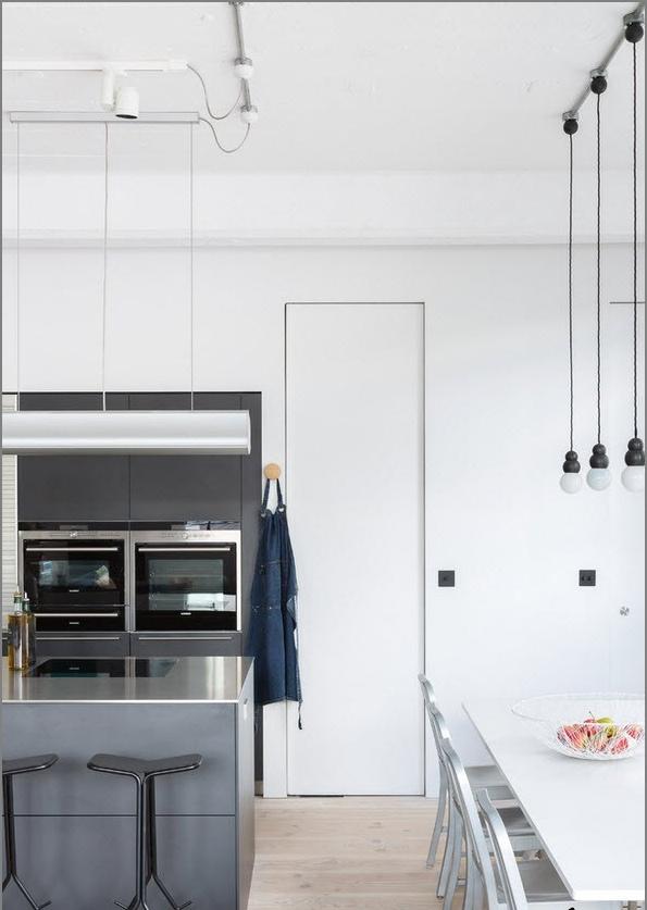 Дизайн проект на апартаменти в стила на Loft бяло