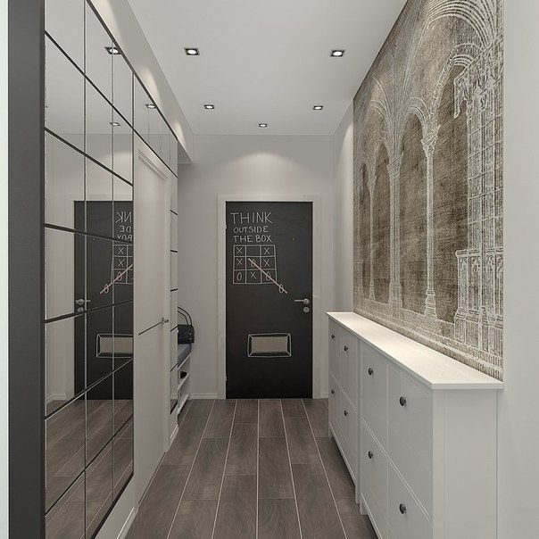 Квартира студия, оформление дизайна интерьера