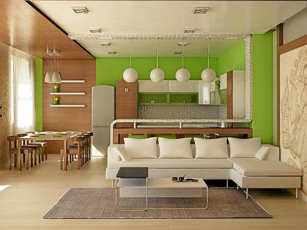 Апартамент студио, интериорна декорация дизайн