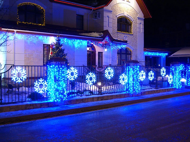 facade decoration for New Year holidays