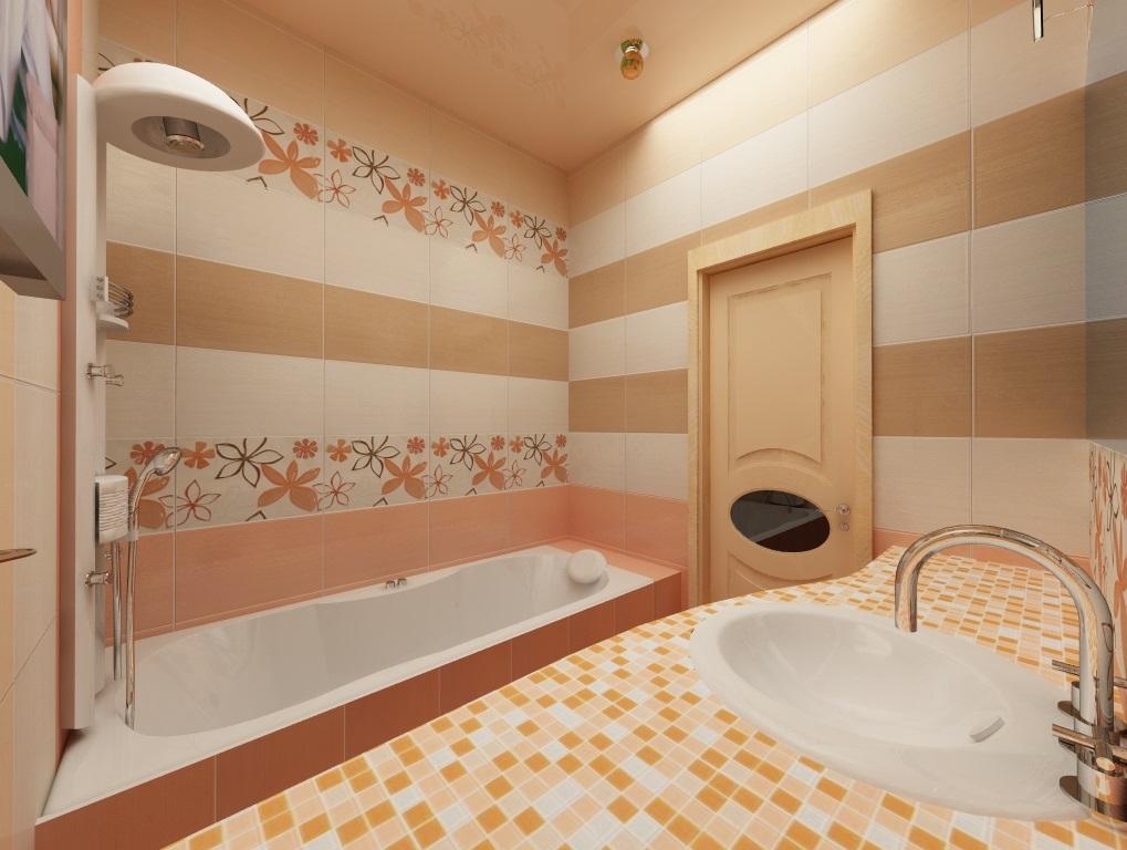 Интериорът на малка баня