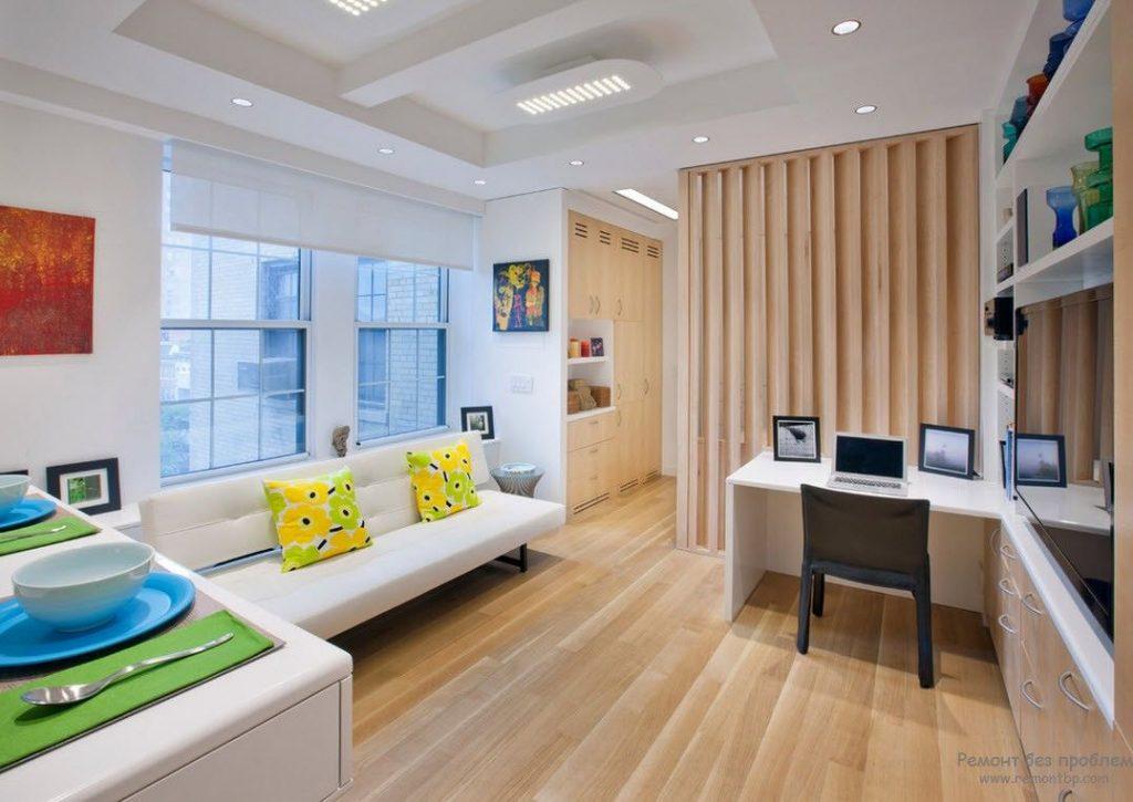 Студио: решение за малки апартаменти. Малък студио апартамент (снимка на интериора)
