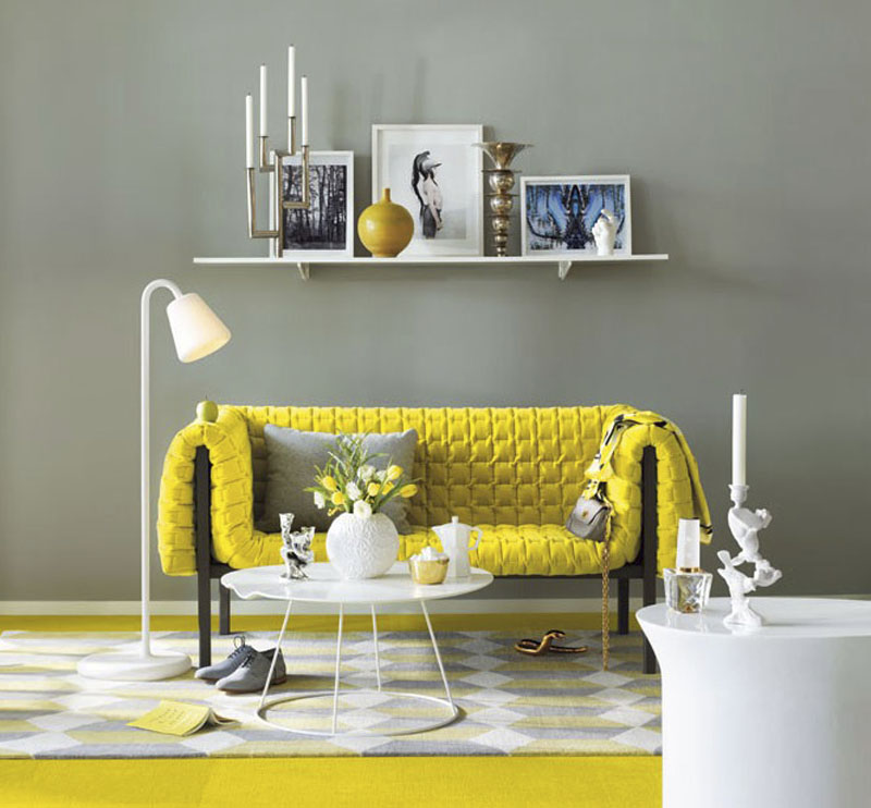 Жълтият цвят в интериора