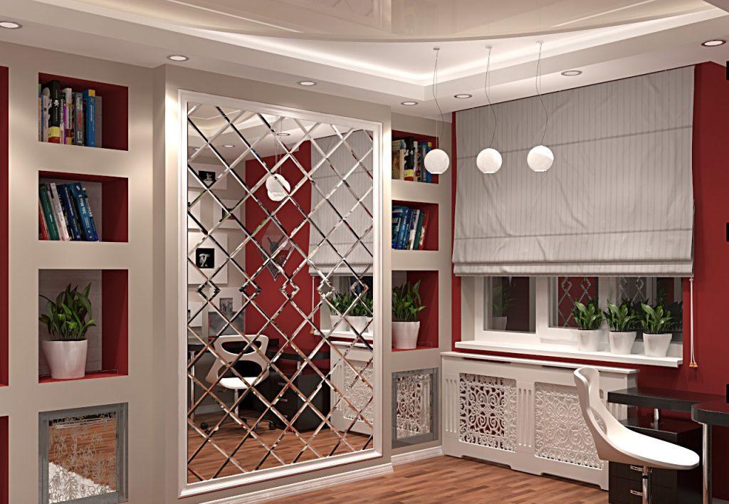 Интериорен дизайн с огледало плочки