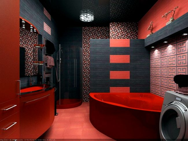 modern-contemporary-bathroom-with-dark-red-