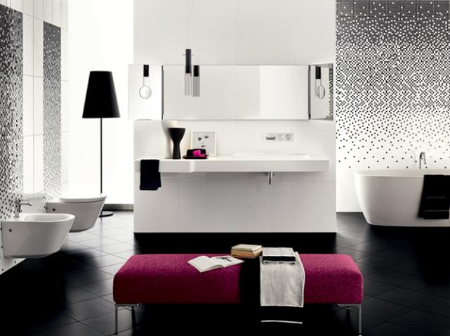 Dizaino id jos ir interjeras vonios kambarys 2017 - Salle de bain noir et rose ...