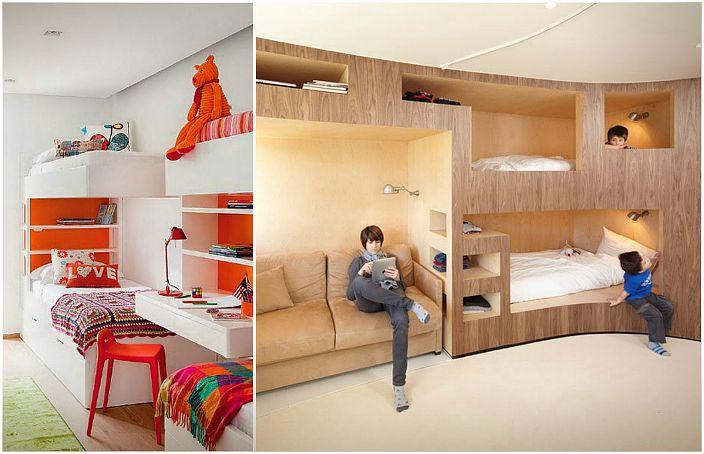 19 gode senger og soverom for st rre familier og sm - Habitacion con literas para ninos ...