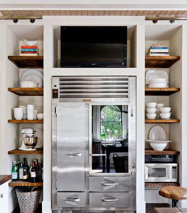 Country Kitchen Fridge: 12 Esempi Di Come Utilizzare Lo Spazio Sopra Il