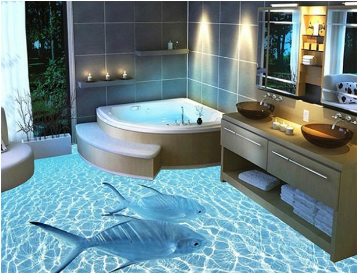17 inspirierende beispiele von modernen badgestaltung for Badezimmer 3d boden