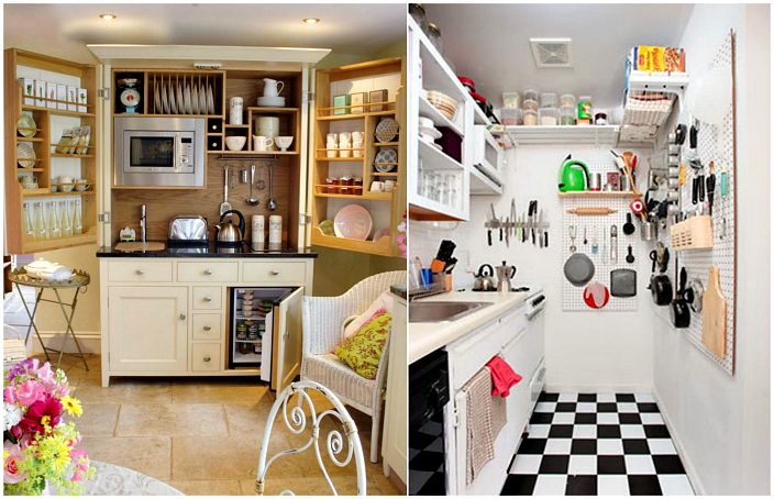 17 great design ideas and the organization of space in a - Arranging a small kitchen ...