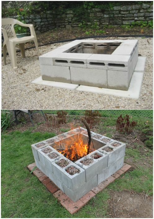 ... great examples of using concrete blocks in the garden and in the house