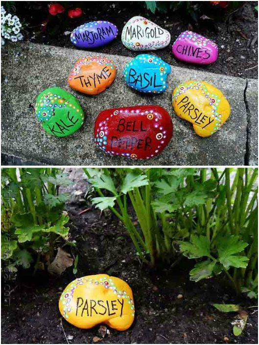 dekorera med stenar