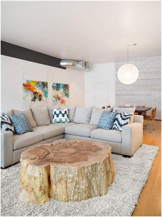 un excellent choix pour crer une table basse avec une coupe de tronc d arbre - Table Basse Tronc D Arbre