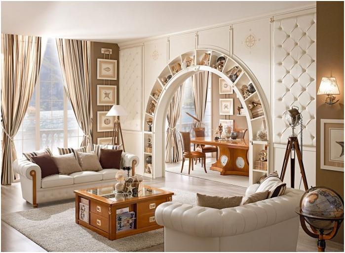 Arch в интериорния дизайн: функции, снимки
