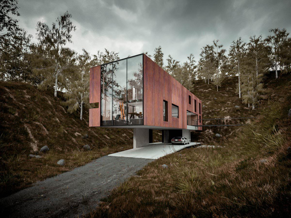 Архитектурата и дизайнът на къщата на Hyde и Хайд Architects
