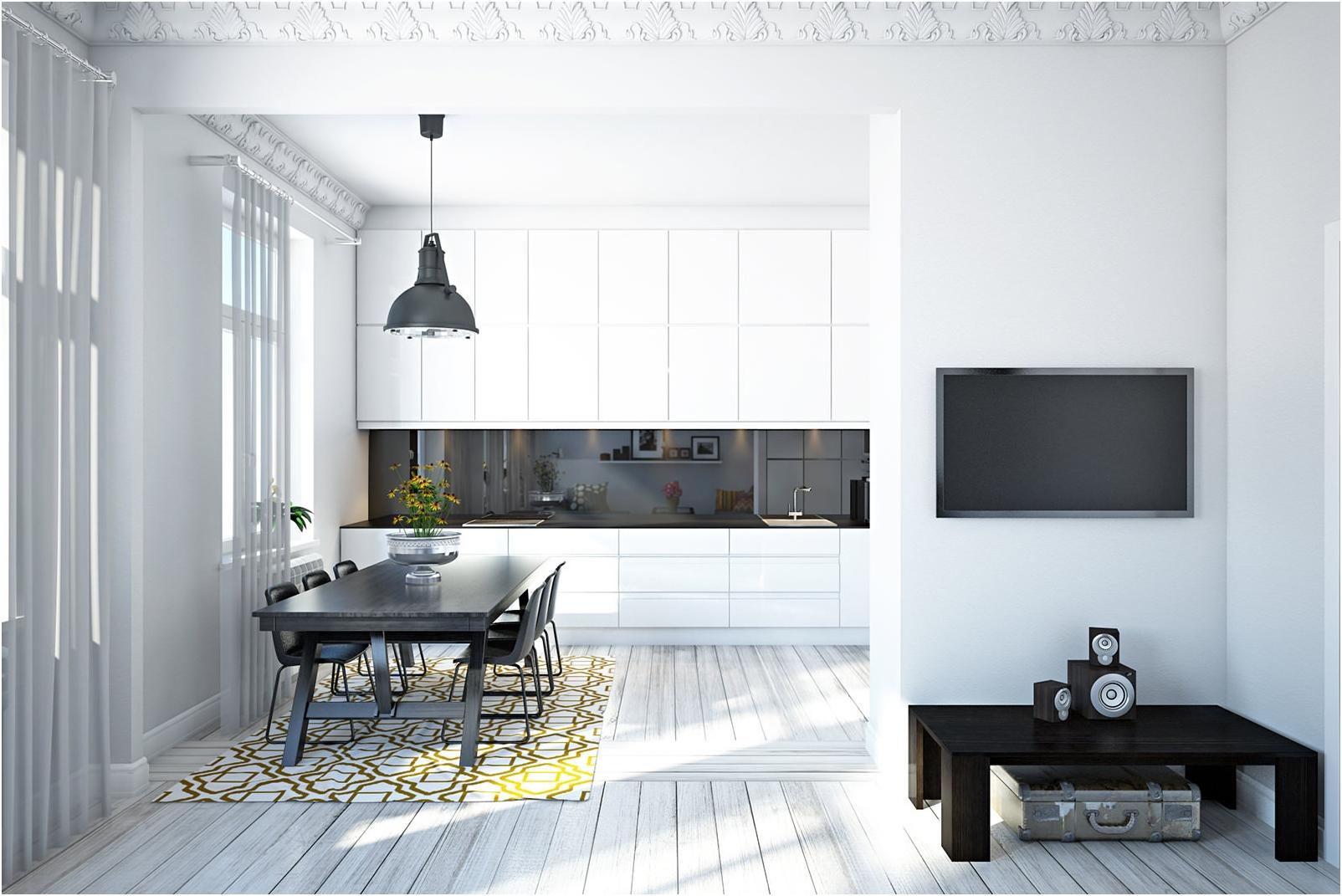 Белите стени в интериора: примерите и ползи