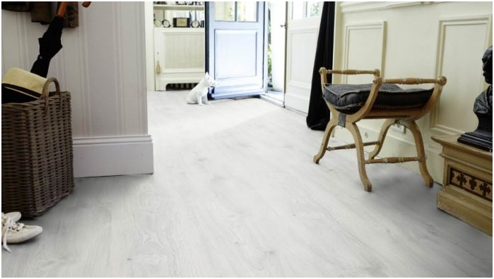 white laminate interior