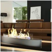 Bio-fireplace in the interior: the benefits, device types-1
