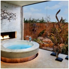 Bio-fireplace in the interior: the benefits, device types-3