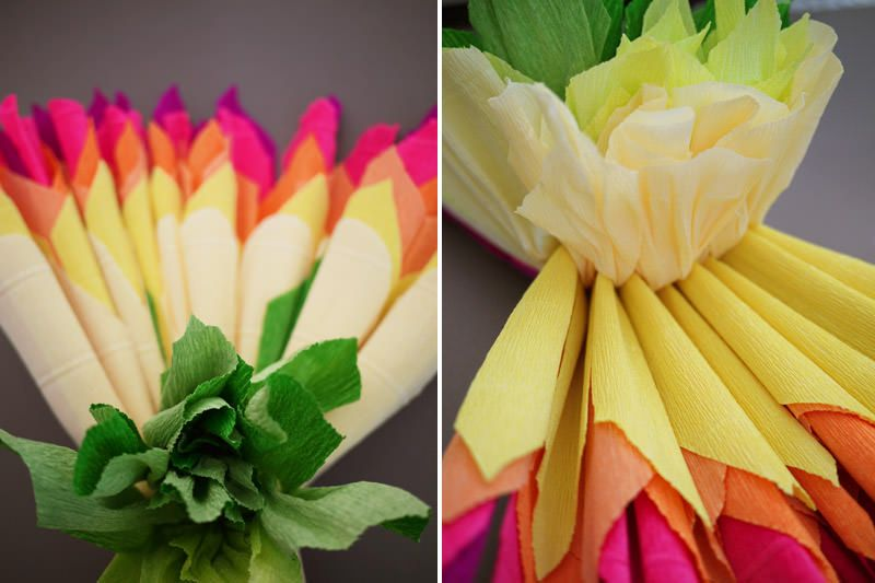 paper flowers from crepe paper