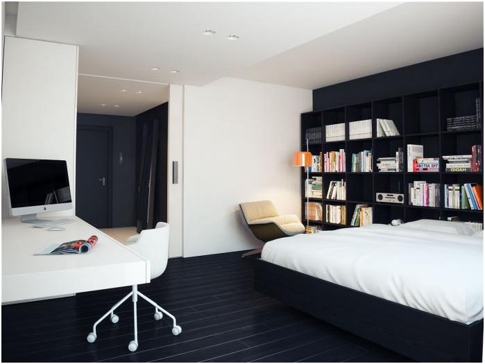 Svart gulv i interiøret  dizainall.com