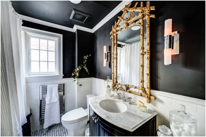 salle de bain avec plafond noir - Salle De Bain Plafond Noir