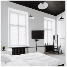 Черен таван в интериора