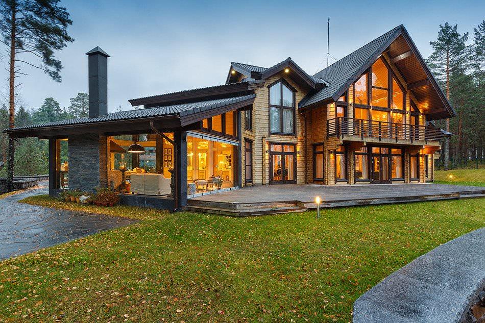 Проектиране на къщи от слепени греди на Карелски провлак