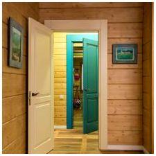 Интериорен дизайн дървена къща от един бар
