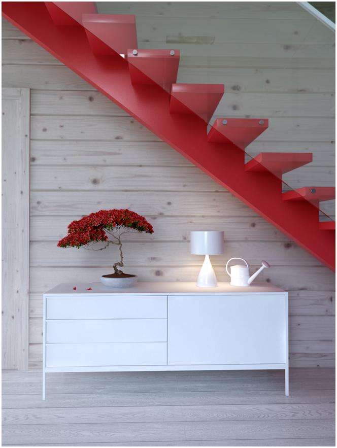 Интериор на дървен материал къща дизайн
