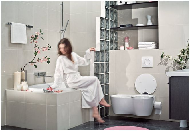 Интериорен дизайн малка баня