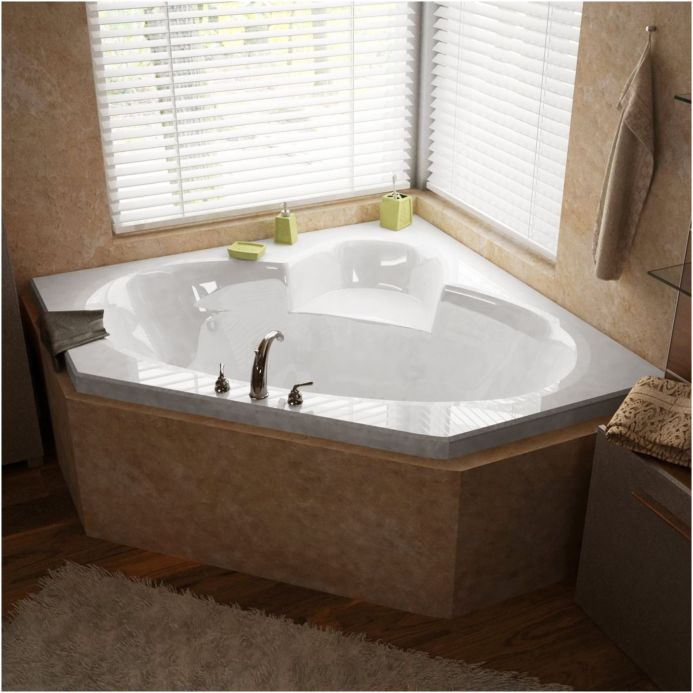 Интериорен дизайн с ъглова вана