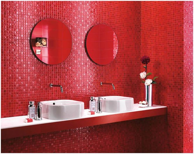 Tervezze piros fürdőszoba  dizainall.com