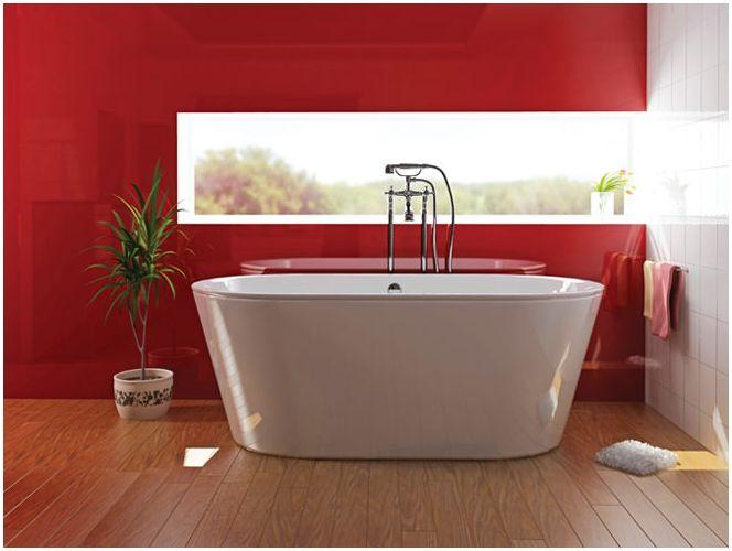 Дизайн червена баня