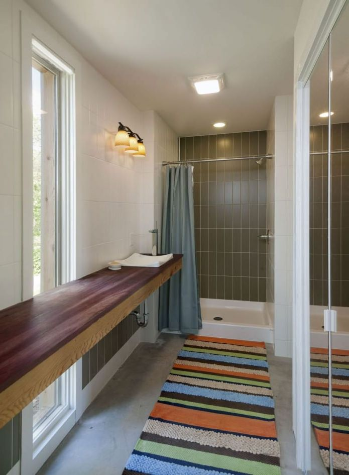bathroom in the interior of a small apartment building