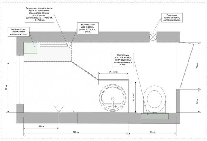 Дизайнът е много малка баня Q2. м.