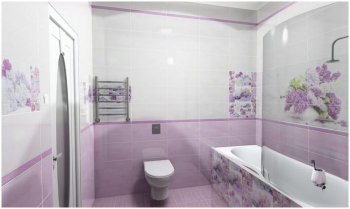 lilac design bathroom