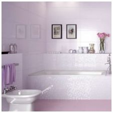 Design lilac bathrooms: features photo-2