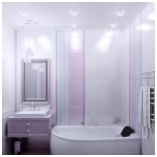 Design lilac bathrooms: features photo-3