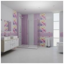 Design lilac bathrooms: features photo-4