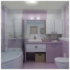 Design lilac bathrooms: features photo-6