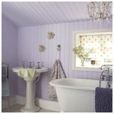 Design lilac bathrooms: features photo-7