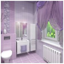 Design lilac bathrooms: features photo-8
