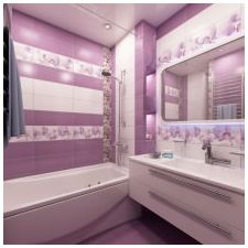Design lilac bathrooms: features photo-11