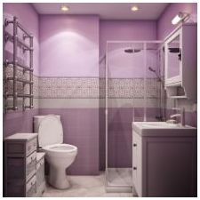 Design lilac bathrooms: features photo-12