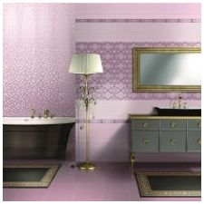 Design lilac bathrooms: features photo-13