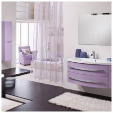 Design lilac bathrooms: features photo-14