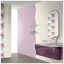 Design lilac bathrooms: features photo-17