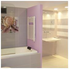 Design lilac bathrooms: features photo-5